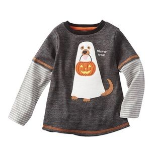 Mud Pie TRICK OR TREAT DOG GHOST Boys Large 4T/ 5T